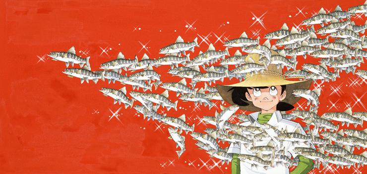 山魚女群泳