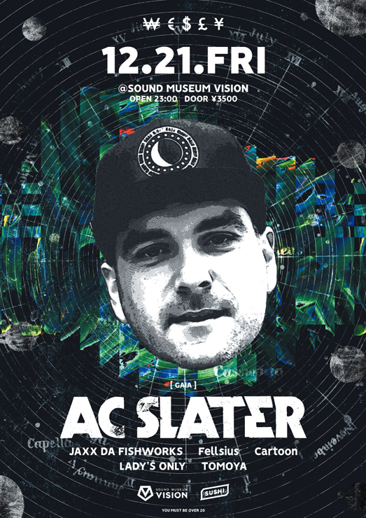 『WESLY feat.AC SLATER』2018年12月21日 (金) at 渋谷 SOUND MUSEUM VISION