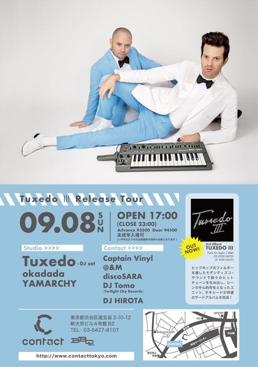 Tuxedo『Tuxedo III Release Tour』2019年9月8日(日)at 渋谷 Contact