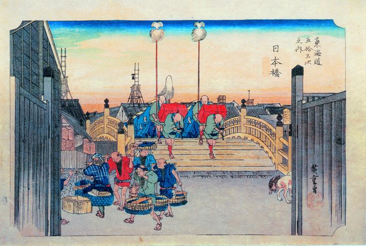 日本橋・朝之景