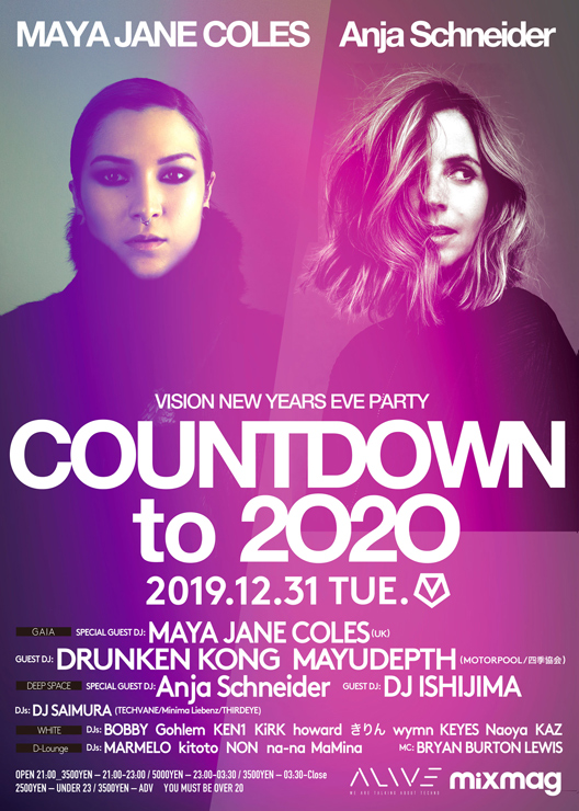 VISION NEW YEARS EVE PARTY COUNTDOWN to 2020