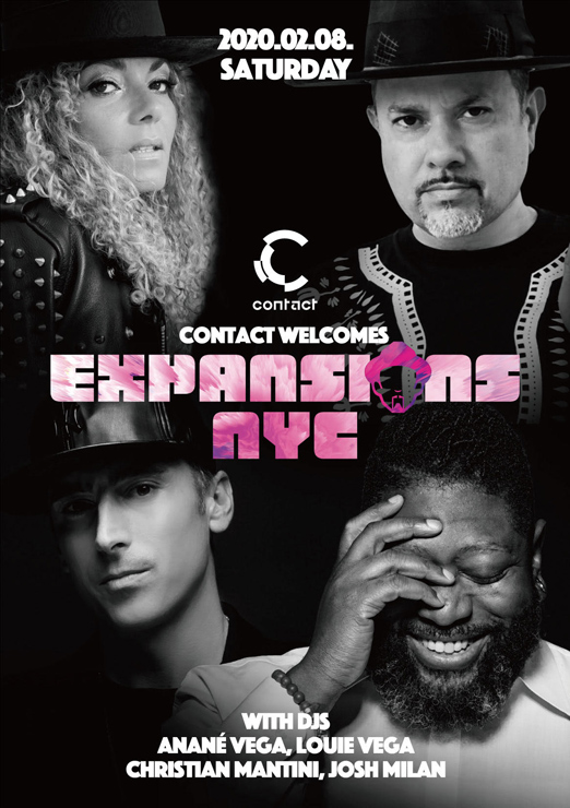 Contact welcomes Expansions NYC with DJs: Louie Vega, Anan? Vega, Josh Milan, Christian Mantini