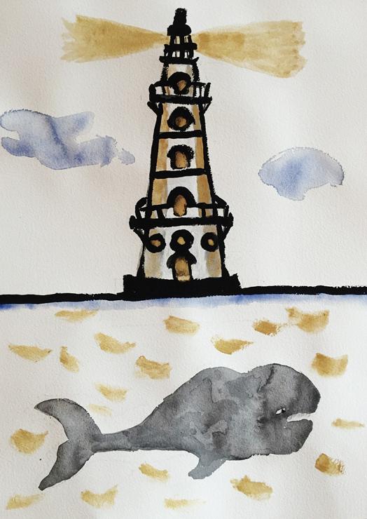 灯台とくじら(EDT. 80) 価格:62,000円(税抜) 額装サイズ:W480×H640×D21mm