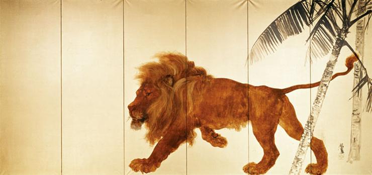 竹内栖鳳《獅子》1901-02(明治34-35)年 東京富士美術館蔵 (C)東京富士美術館イメージアーカイブ/DNPartcom