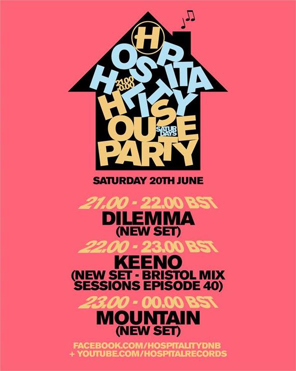 オンラインパーティー『HOSPITALITY HOUSE PARTY』2020年6月21日(日)05:00~08:00(日本時間)開催