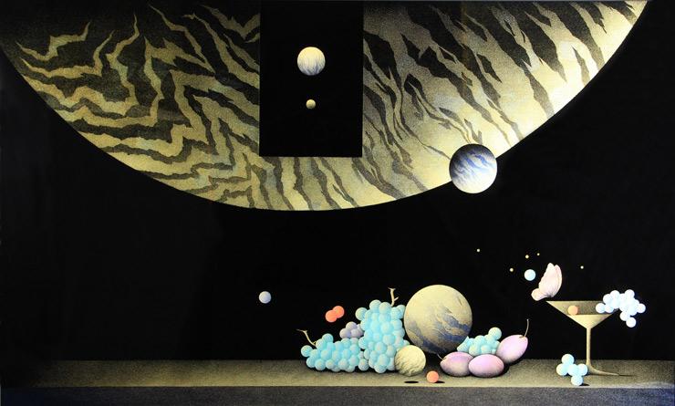 角康二 漆額「遥かなる幻影」 90cm×150cm