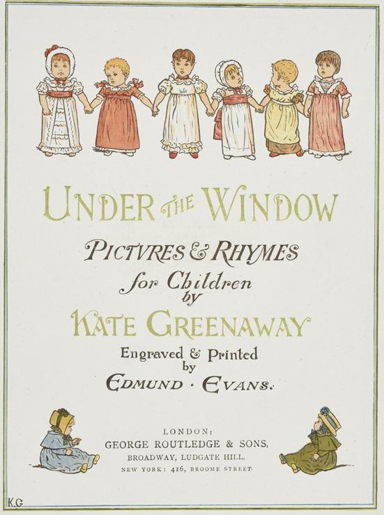 ケート・グリーナウェイ(1846-1901) 『窓の下で』より 1878年刊 木口木版(多色) 町田市立国際版画美術館蔵