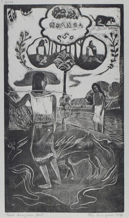 ポール・ゴーギャン(1848-1903) 「ノア・ノア(かぐわしい)」  1893-94年(1921年刊) 木版  個人蔵(町田市立国際版画美術館寄託)
