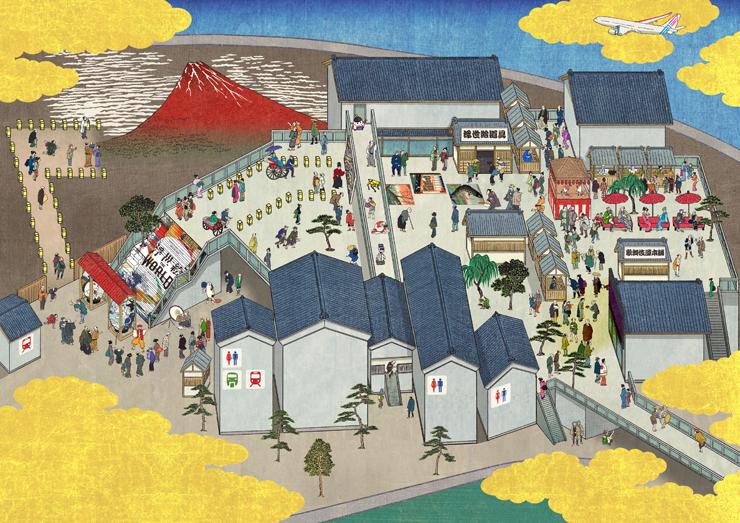 羽田未来都市絵図