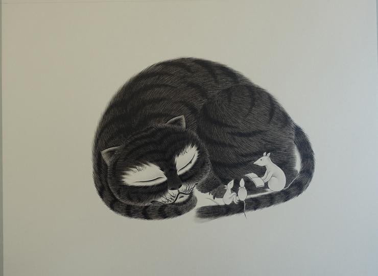 「福猫と三匹小福鼠」6F