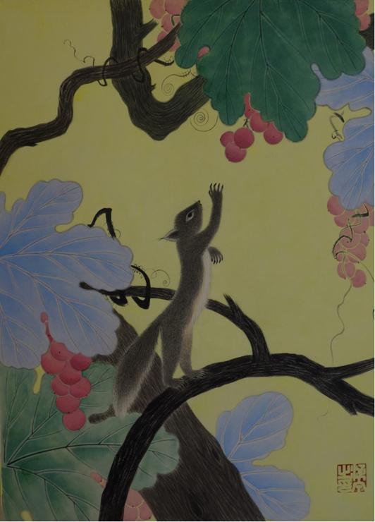 「栗鼠と葡萄」6F