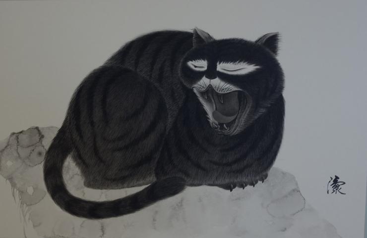 「猫 虎」41X64cm