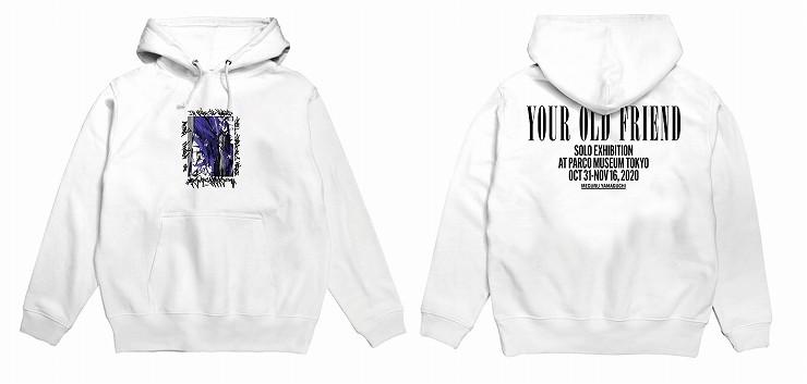 MEGURU YAMAGUCHI EXHIBITION LIMITED Hoodie – White / Size M L XL XXL