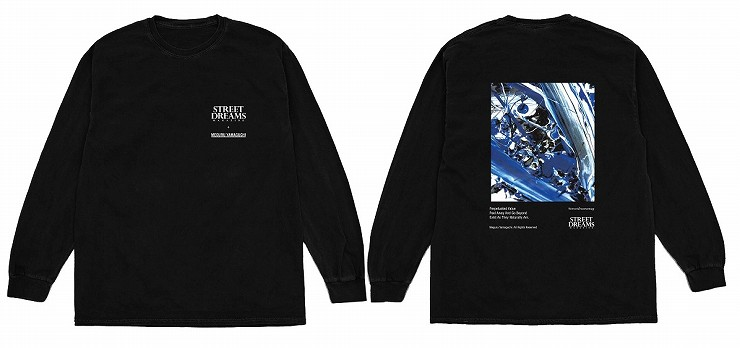 MEGURU YAMAGUCHI×STREET DREAMS MAGAZINE Long T-Shirt Black /Size M L XL XXL
