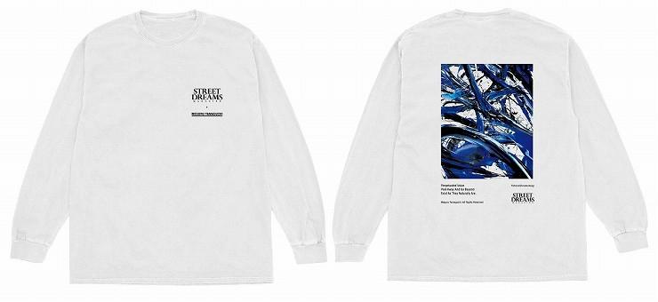 MEGURU YAMAGUCHI×STREET DREAMS MAGAZINE Long T-Shirt White /Size M L XL XXL