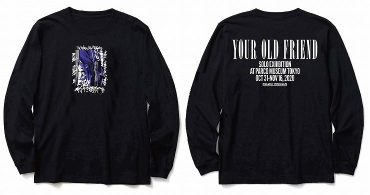 MEGURU YAMAGUCHI EXHIBITION LIMITED Long T-Shirt Black /Size M L XL XXL