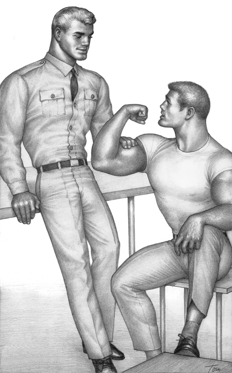 TOM OF FINLAND (Finnish, 1920-1991), Untitled, 1963, Gouache on paper, 13.69 in. x 8.31 in., Tom of Finland Foundation permanent collection, © 1963 - 2020 Tom of Finland Foundation