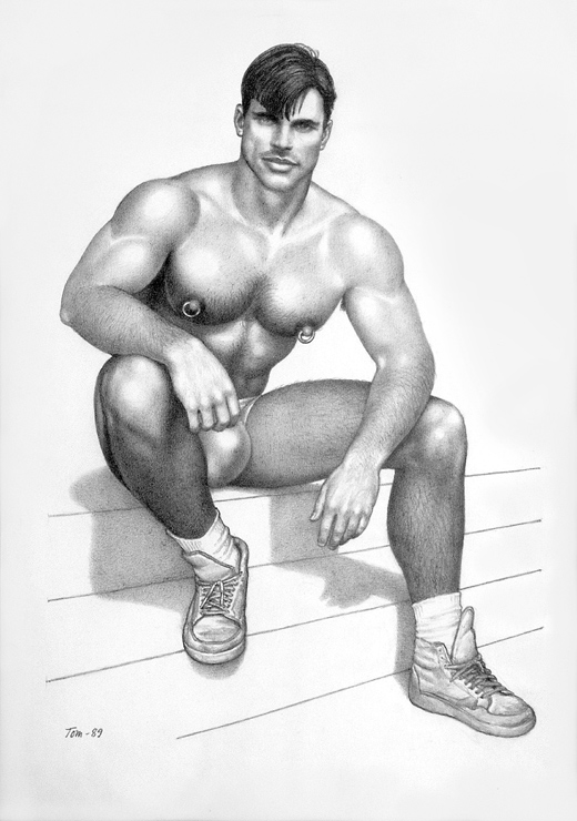 TOM OF FINLAND (Finnish, 1920-1991),David, a Beauty, 1989, Gouache on paper, 14.38 in. x 10.44 in., Tom of Finland Foundation permanent collection, © 1989 - 2020 Tom of Finland Foundation