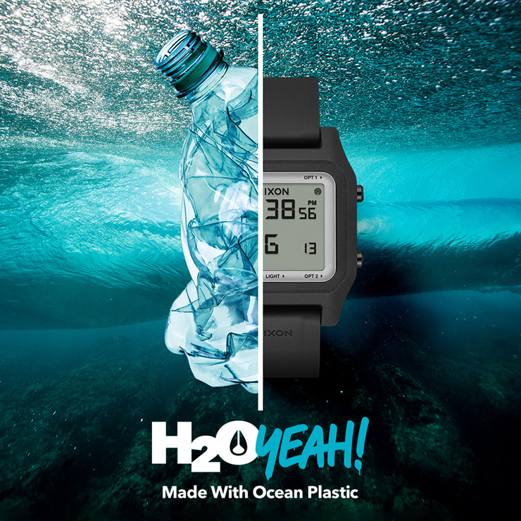 リサイクル海洋プラスチックから生まれ変わったニクソン
