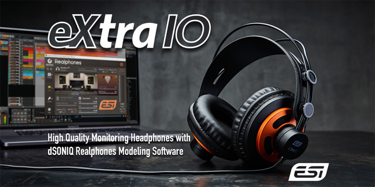 ドイツに拠点を置くスタジオ&ホームユースのオーディオ開発を行うESIよりモニタリング・ヘッドフォン『eXtra 10』が発売。